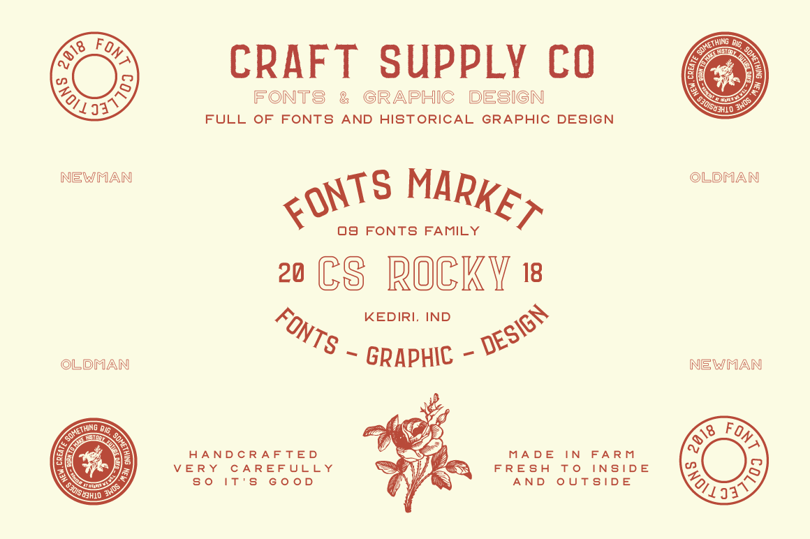 CS Rocky Font + Extras By Craft Supply Co  | TheHungryJPEG com
