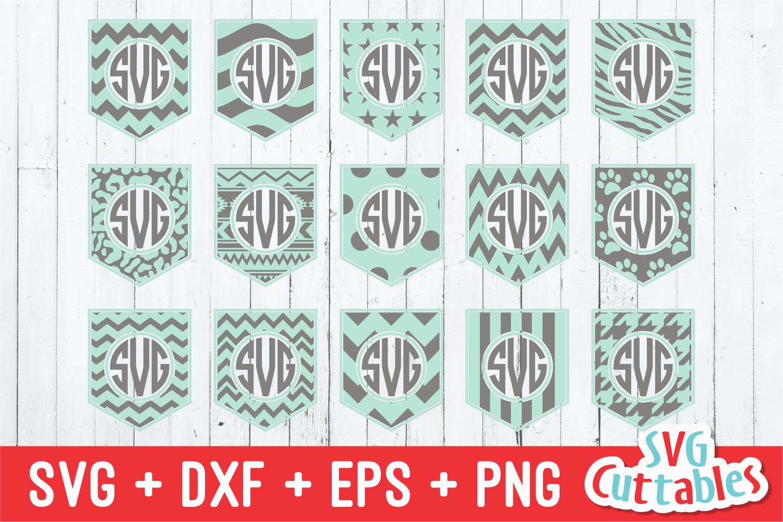Pocket Monogram Frames By Svg Cuttables Thehungryjpeg Com
