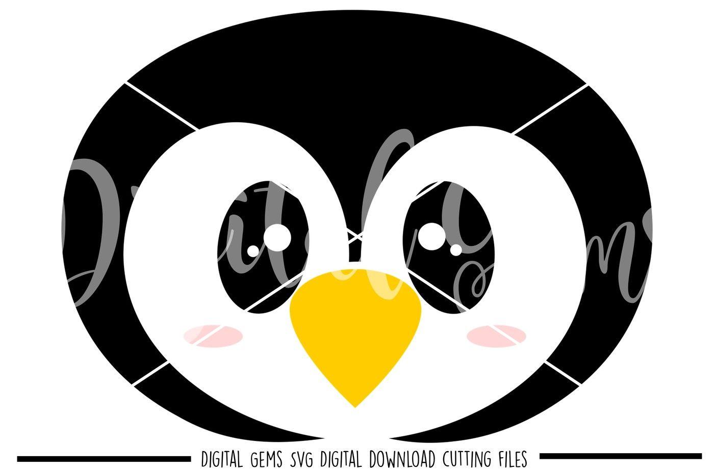 Penguin Face Svg Dxf Eps Png Files By Digital Gems