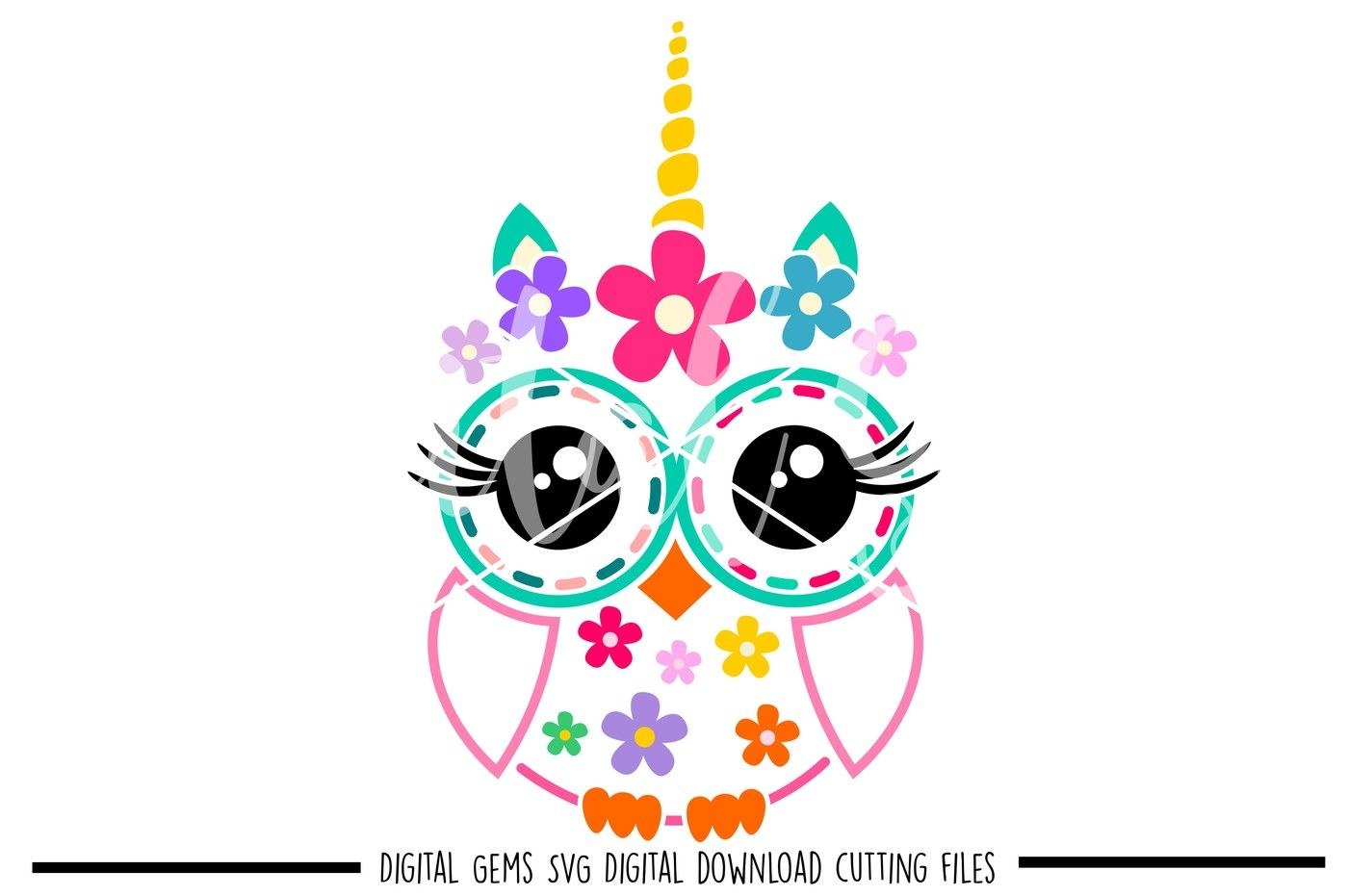 Owl Unicorn Svg Dxf Eps Png Files By Digital Gems