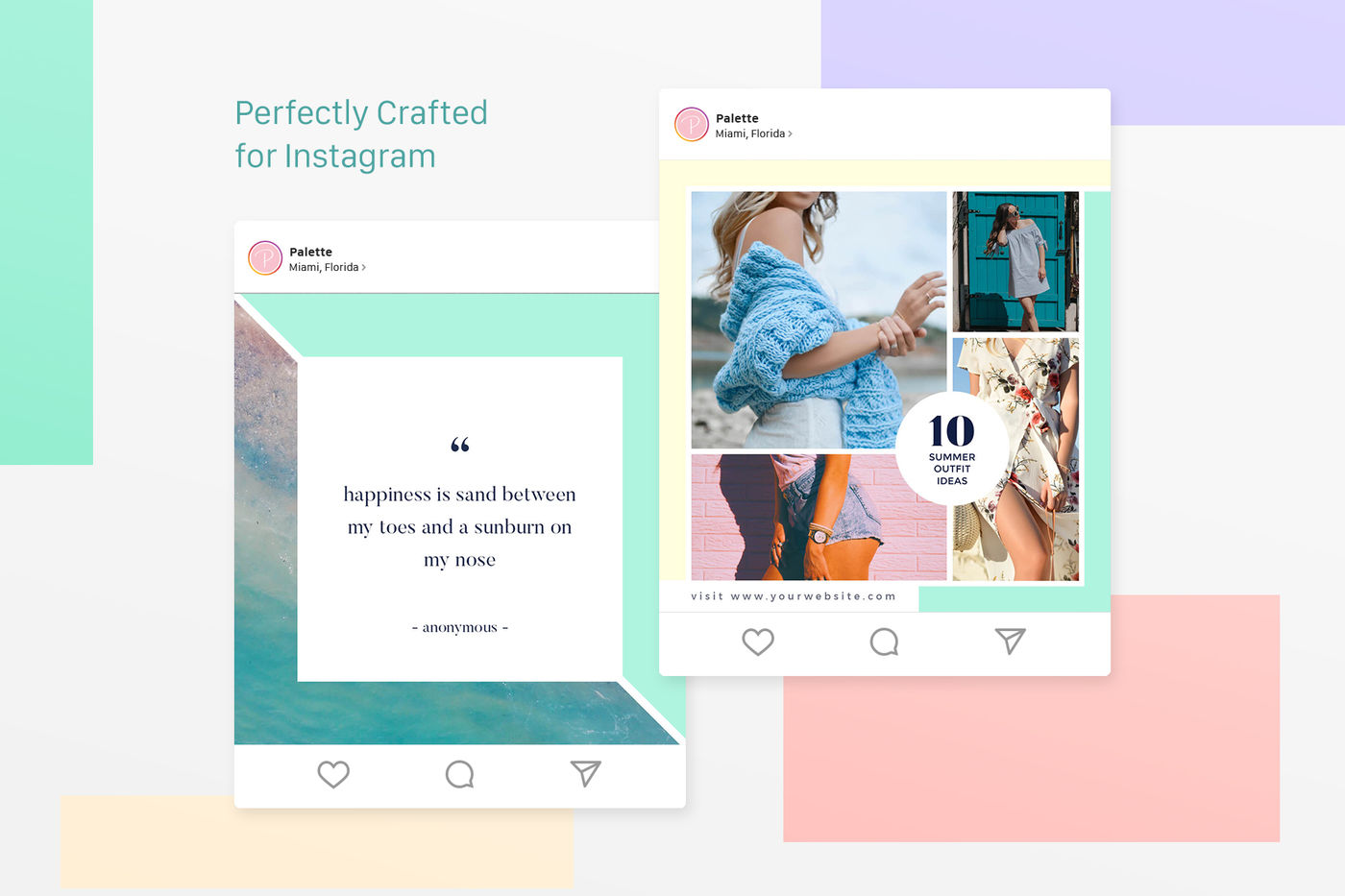 Instagram Pack Palette By Muhisya Thehungryjpeg Com