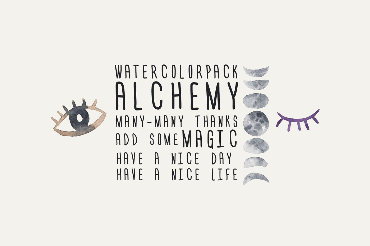 Alchemy Watercolor Pack By Lana Elanor Thehungryjpeg Com