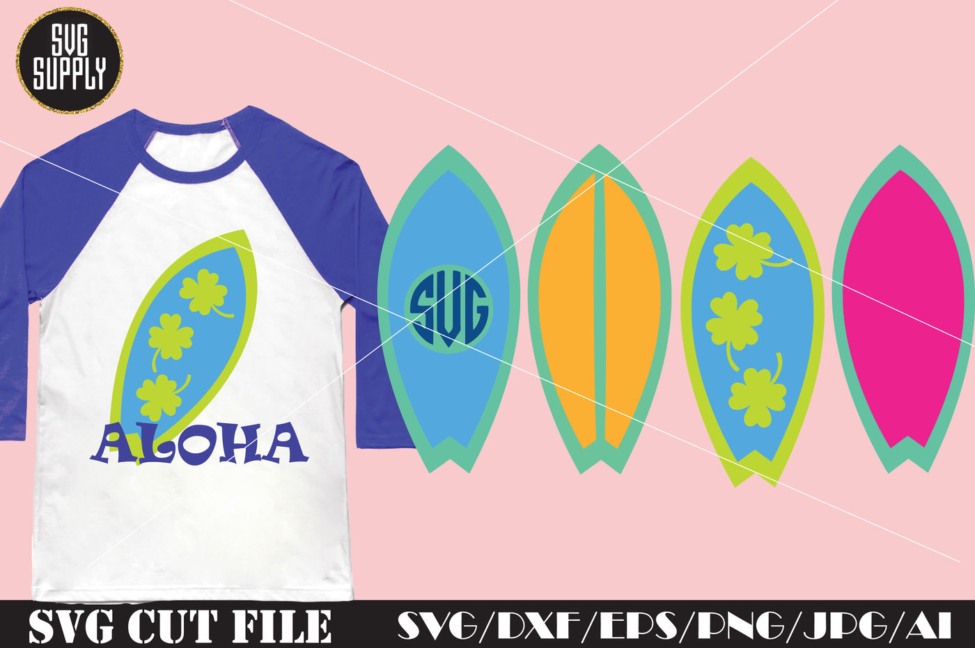 Surf Board Svg Surfboard Monogram Svg Cut File By Svgsupply