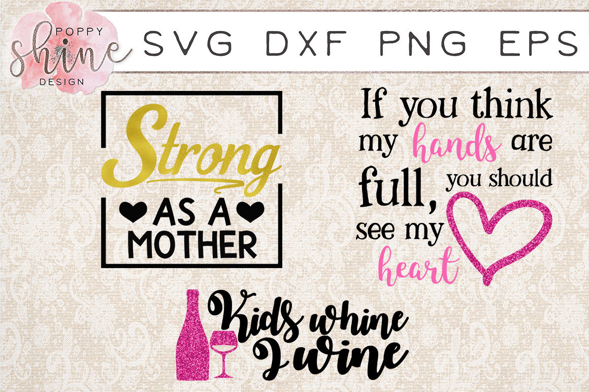 Tired Mama Bundle Of 15 Svg Png Eps Dxf Cutting Files By Poppy