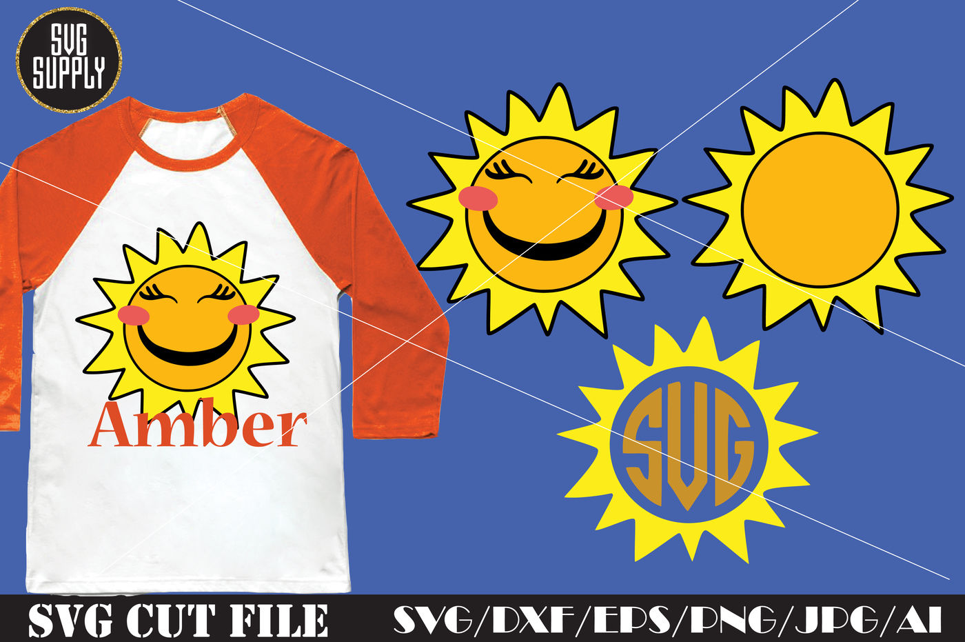 Sun SVG * Sun Monogram SVG Cut File By SVGSUPPLY