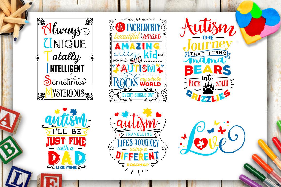 Autism Bundle 40 Autism Svg Autism Awareness By Blackcatssvg Thehungryjpeg Com
