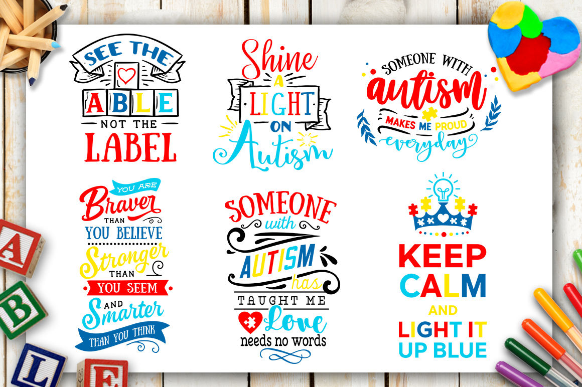 2081cdd07db Autism Bundle - 40 autism SVG - Autism awareness By BlackCatsSVG ...