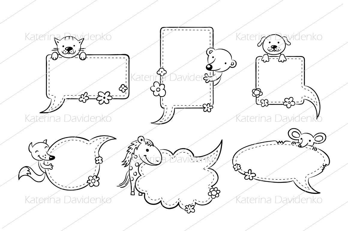 Speech Bubbles with Cartoon Animals By Optimistic Kids Art