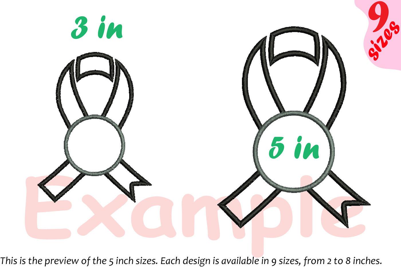 Ribbon Embroidery Desig Split Circle Hope Love Faith Heart Mom