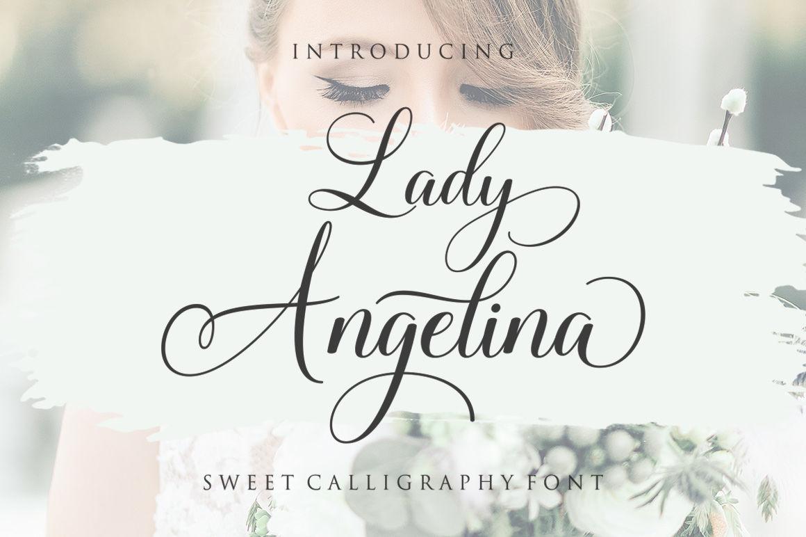 Lady Angelina Script By Megatype Thehungryjpeg Com