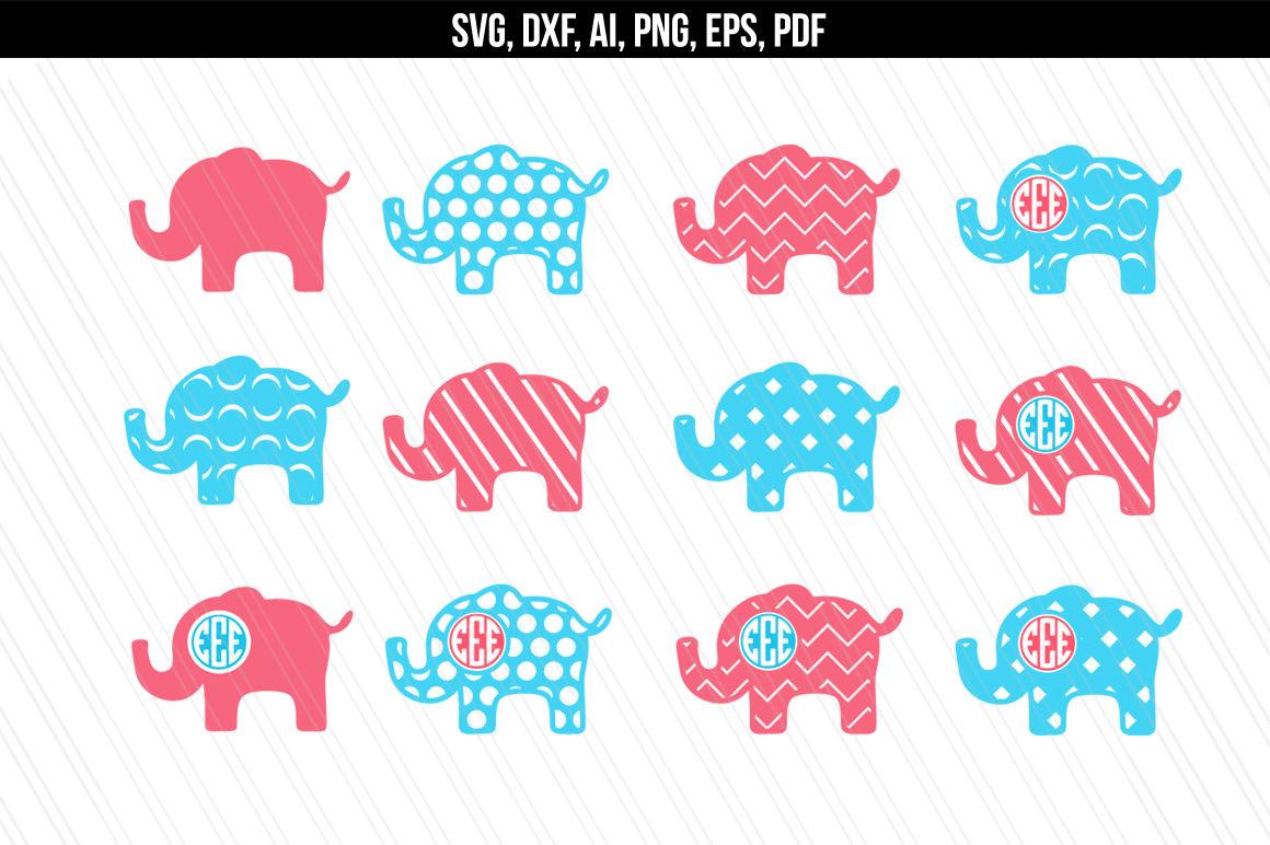 Elephant Svg Dxf Cutting Files Vector By Aivosdesigns Thehungryjpeg Com