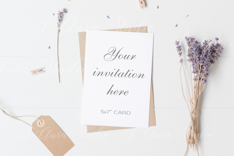 Card Mockup Wedding 5x7 By L Aura Studio Thehungryjpeg Com