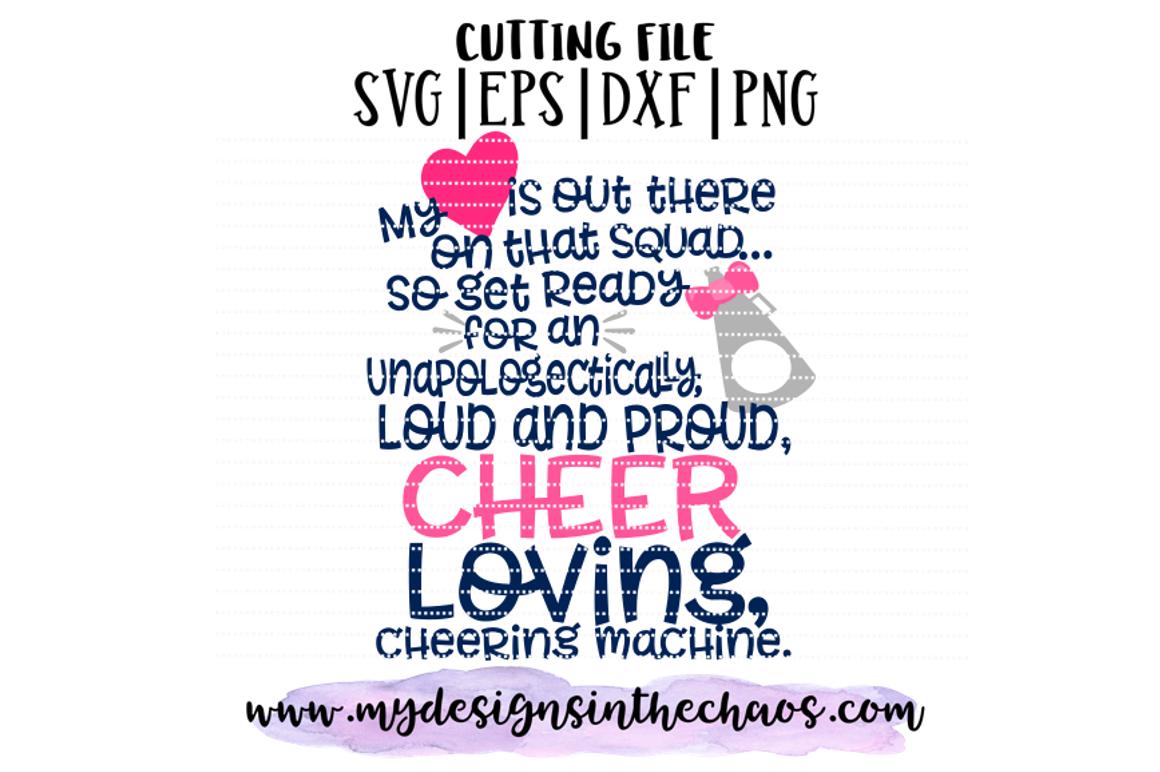Cheerleader Mom Svg Cheer Svg Silhouette Cricut Cutting