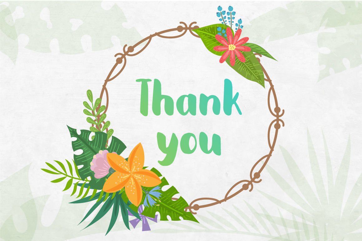 Thank you summer. Tropical clipart collection by
