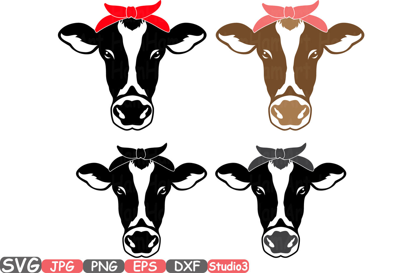 Cow Head Silhouette Svg Cowboy Western Farm Animal 768s By Hamhamart Thehungryjpeg Com