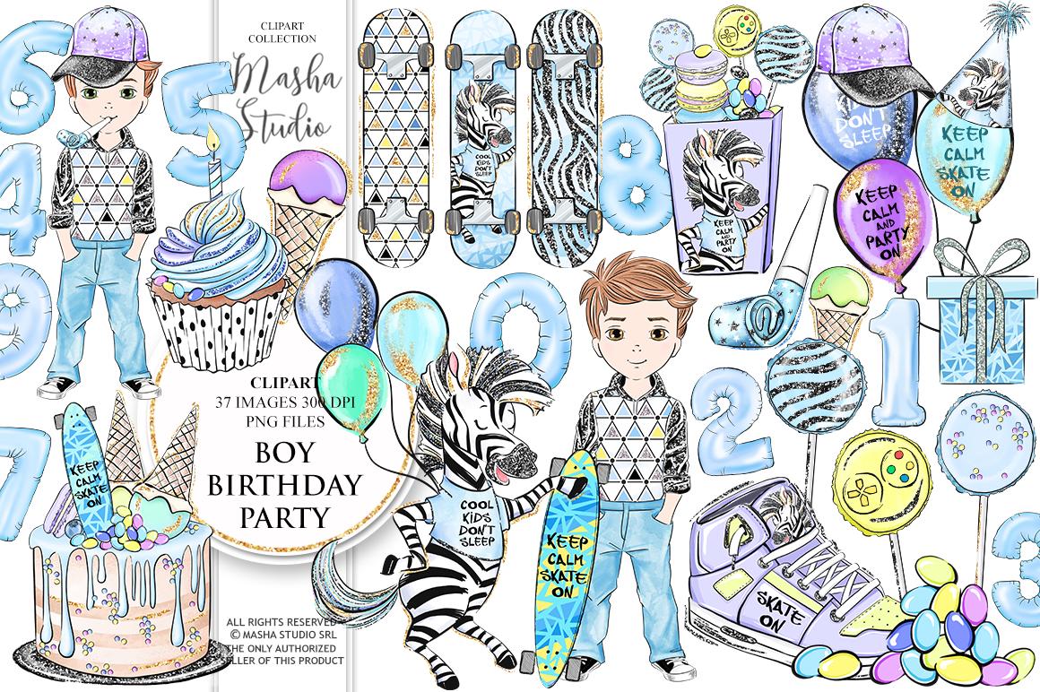 Boy Birthday Party Clipart