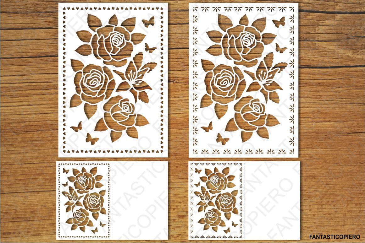 Floral Greeting Card 2 Svg Files For Silhouette Cameo And Cricut