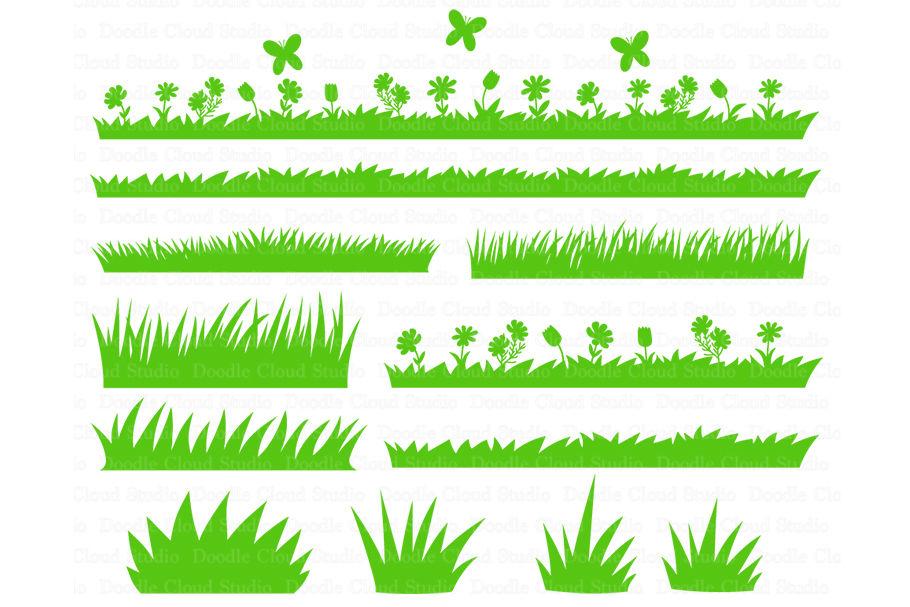 Grass Svg Grass And Flowers Svg Files Wild Grass Grass Clipart