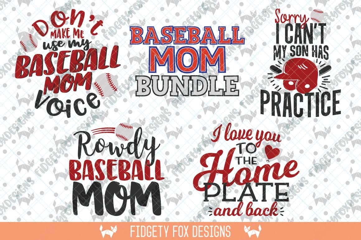 Baseball Mom Svg Bundle Baseball Svg Svg Bundle By Fidgety Fox