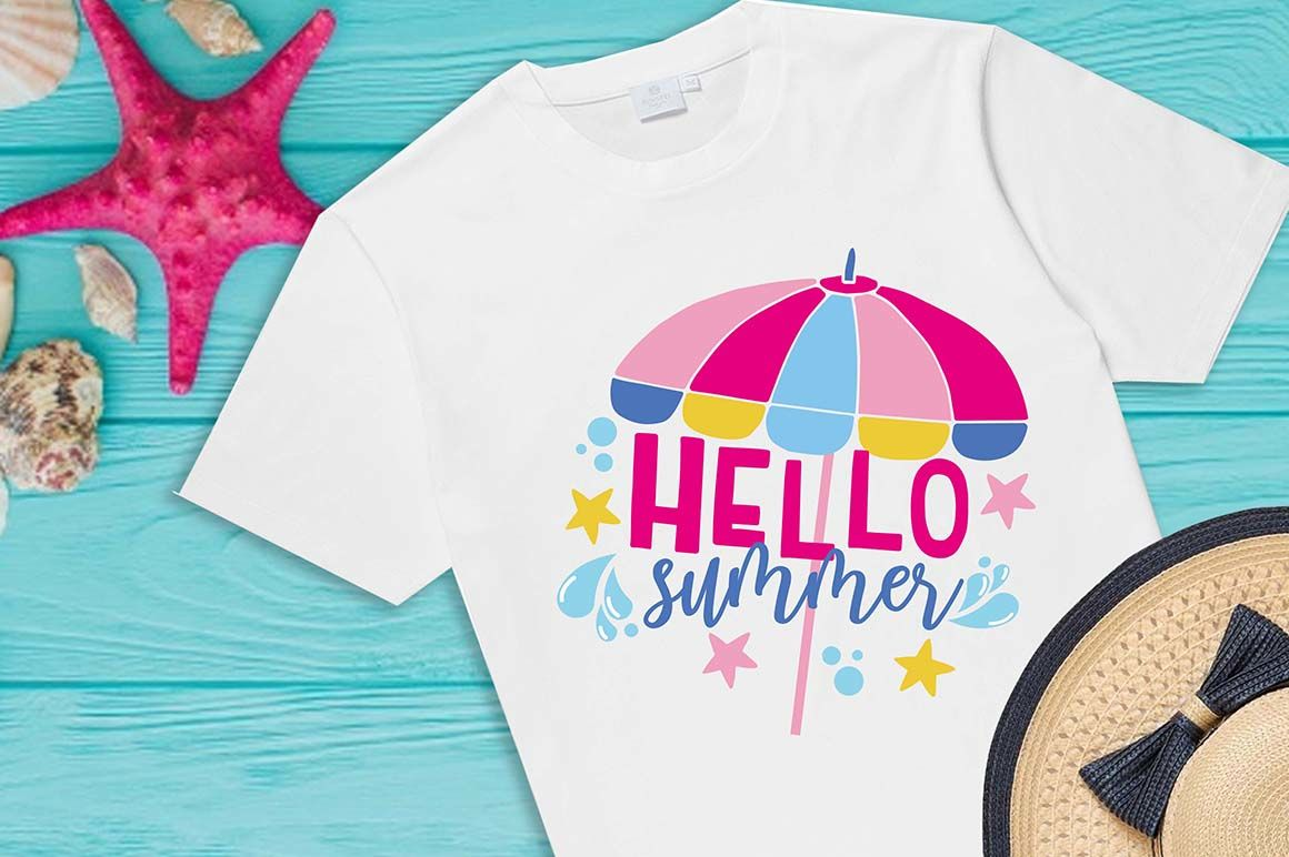 Hello Summer Svg Beach Please Hello Sunshine Umbrella Svg