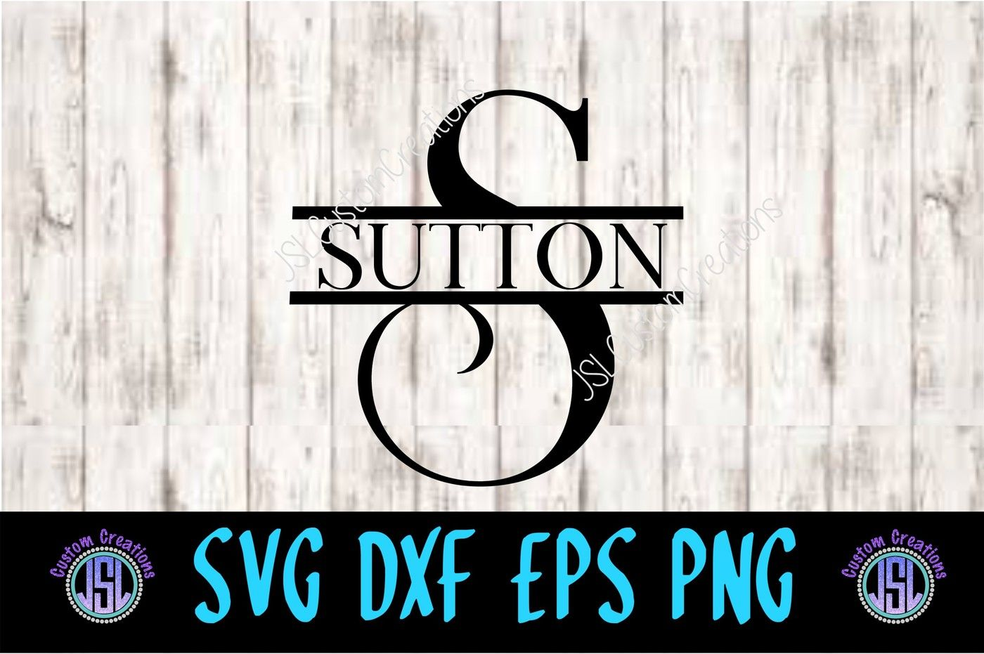 Split Letter Monogram Svg Dxf Eps Png By Jslcustomcreations Thehungryjpeg Com