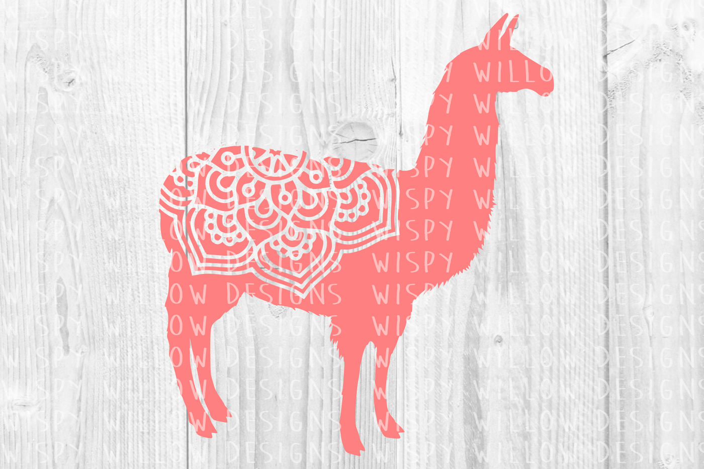 Llama Mandala Svg Dxf Eps Png Jpg Pdf By Wispy Willow Designs