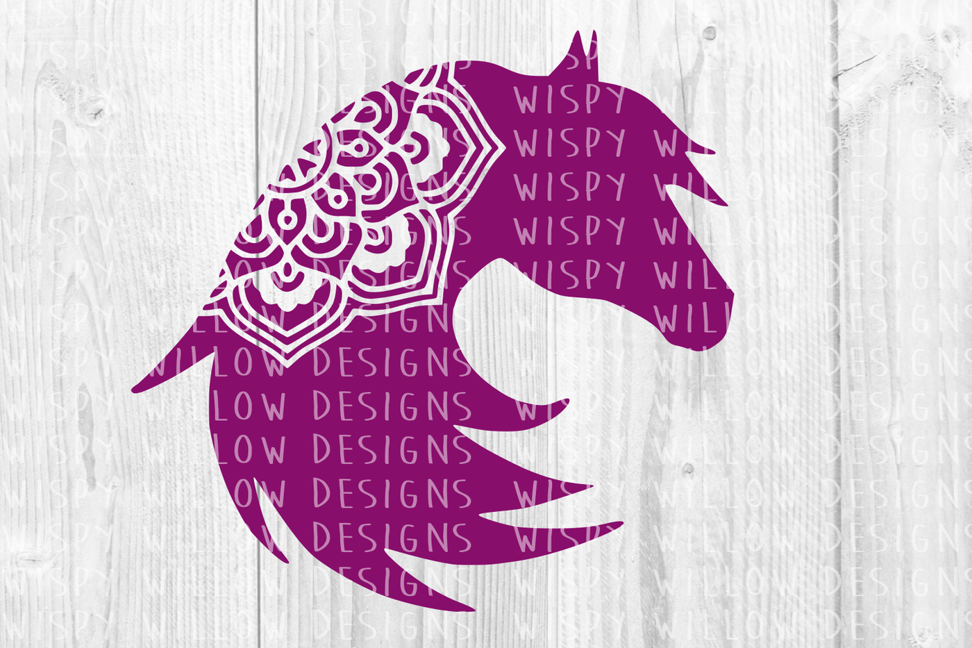 Horse Mandala Svg Dxf Eps Png Jpg Pdf By Wispy Willow Designs