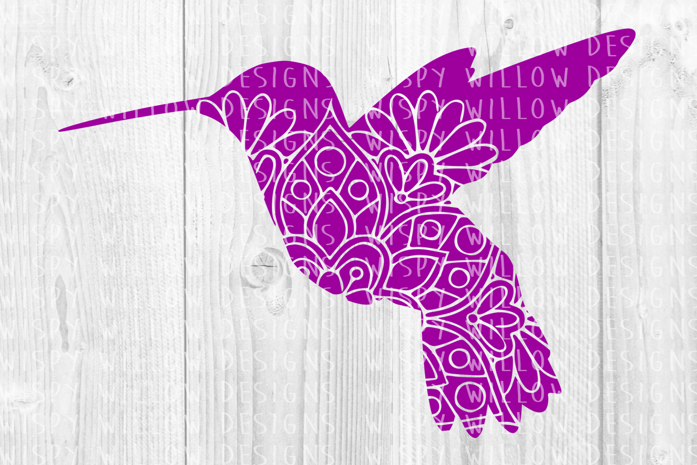 Floral Mandala Hummingbird Svg Dxf Eps Png Jpg Pdf By Wispy Willow