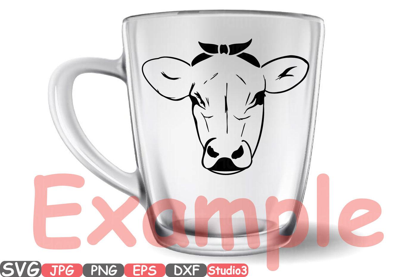 Cricut Free Cow Head Svg