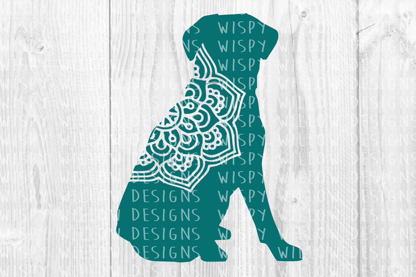 Dog Mandala Svg Dxf Eps Png Jpg Pdf By Wispy Willow Designs