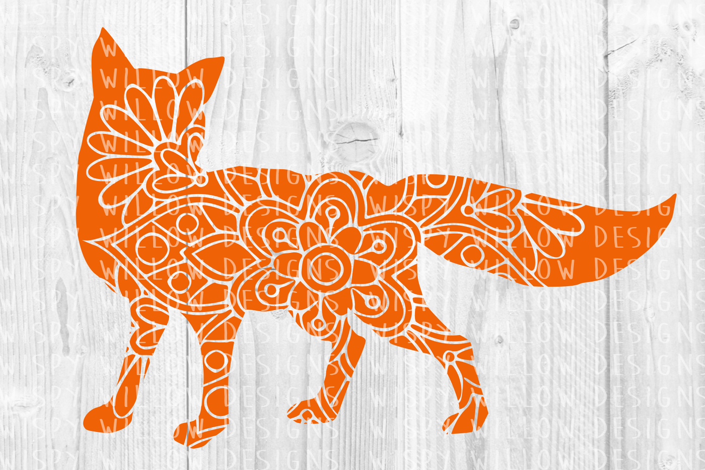 Fox Floral Mandala Svg Dxf Eps Png Jpg Pdf By Wispy Willow Designs