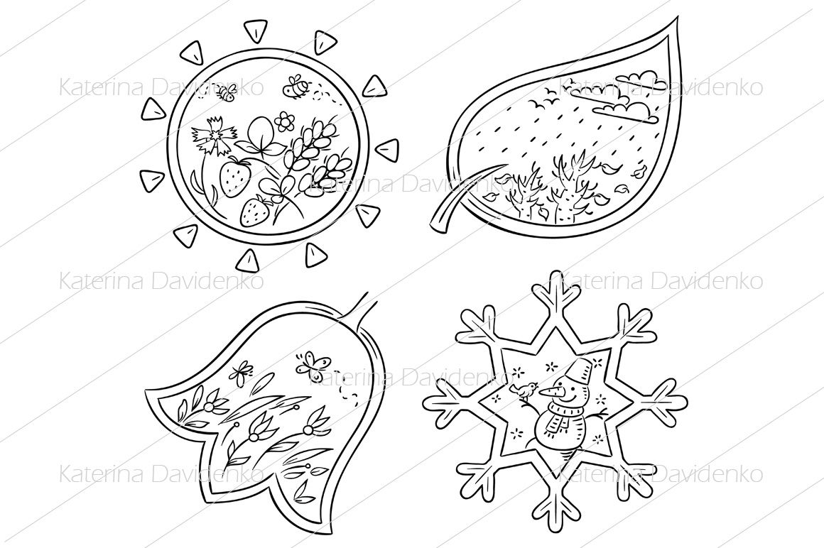Drawing Four Seasons Art