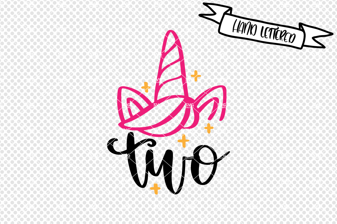 Unicorn Svg Cut File Second Birthday Svg By Svg Gallery