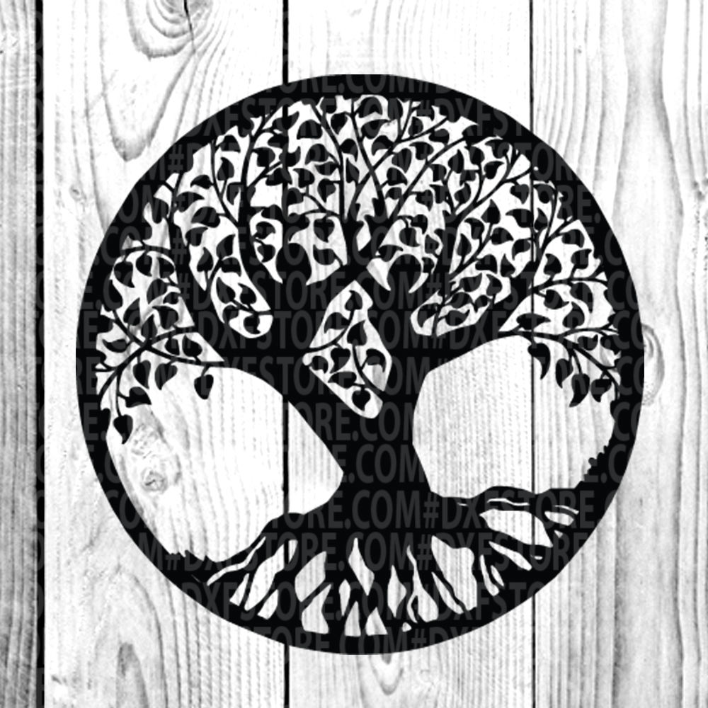 Life Of Tree Tree Tattoo Tree Vector Family Tree By Dxf Store