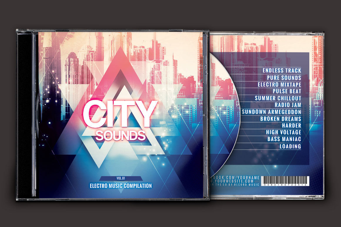 Album Cover Psd Mockup File