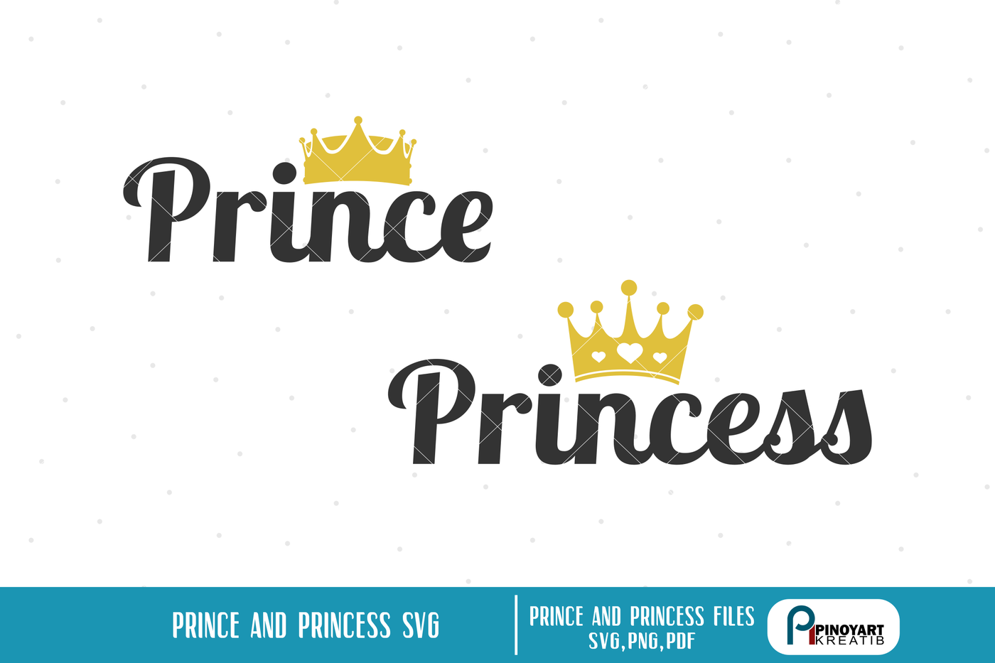 Princess Svg Princess Svg File Prince Svg Prince Svg File Svg