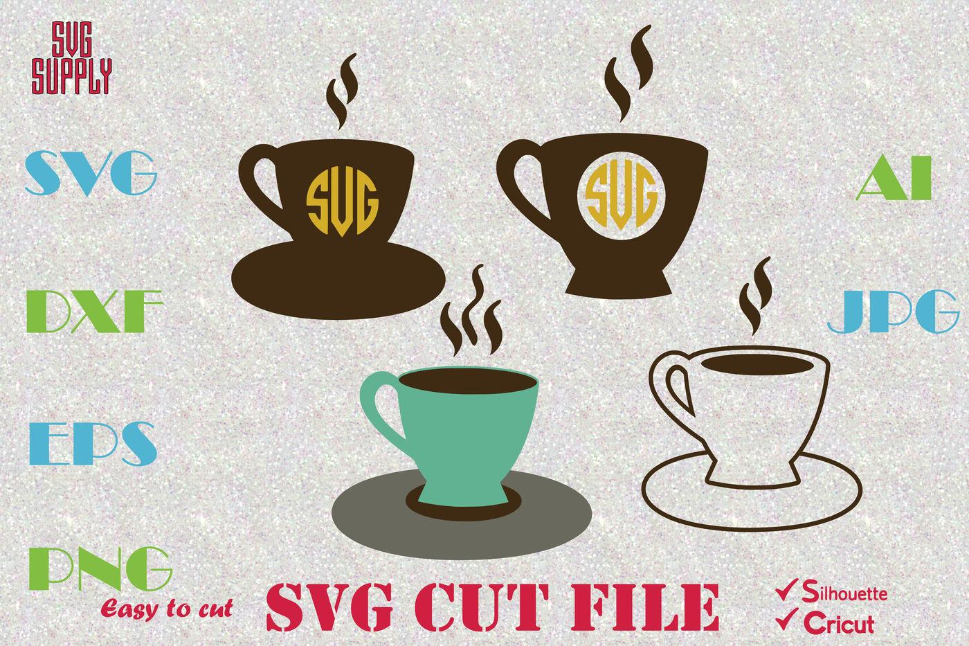 Coffee Svg Coffee Monogram Svg Cut File By Svgsupply