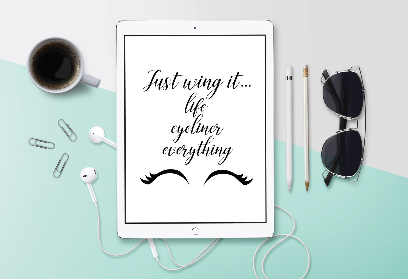 Just Wing It Svg Svg Quote Girly Svg Dxf File Cuttable File By