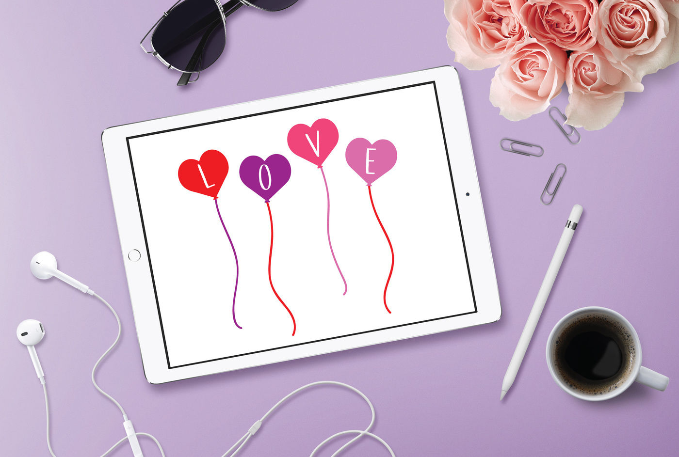 Love Balloons Svg Love Svg Dxf File Cuttable File By Bnr