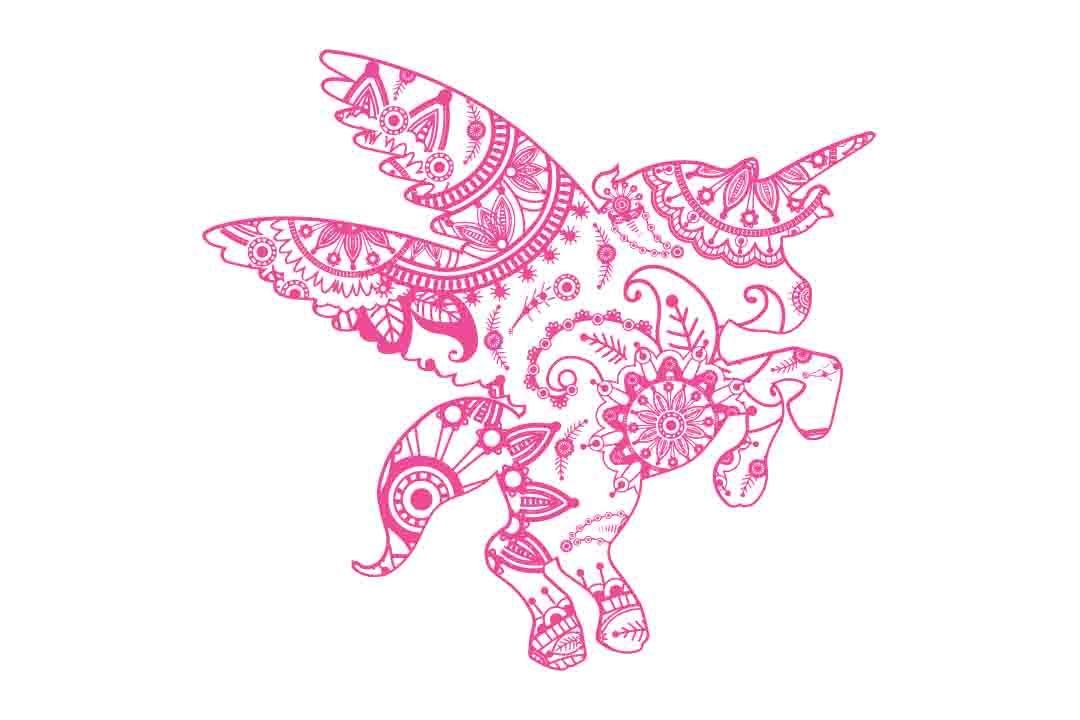 Mandala Unicorn Svg Dxf Eps Png Ai By Twelvepapers Thehungryjpeg Com