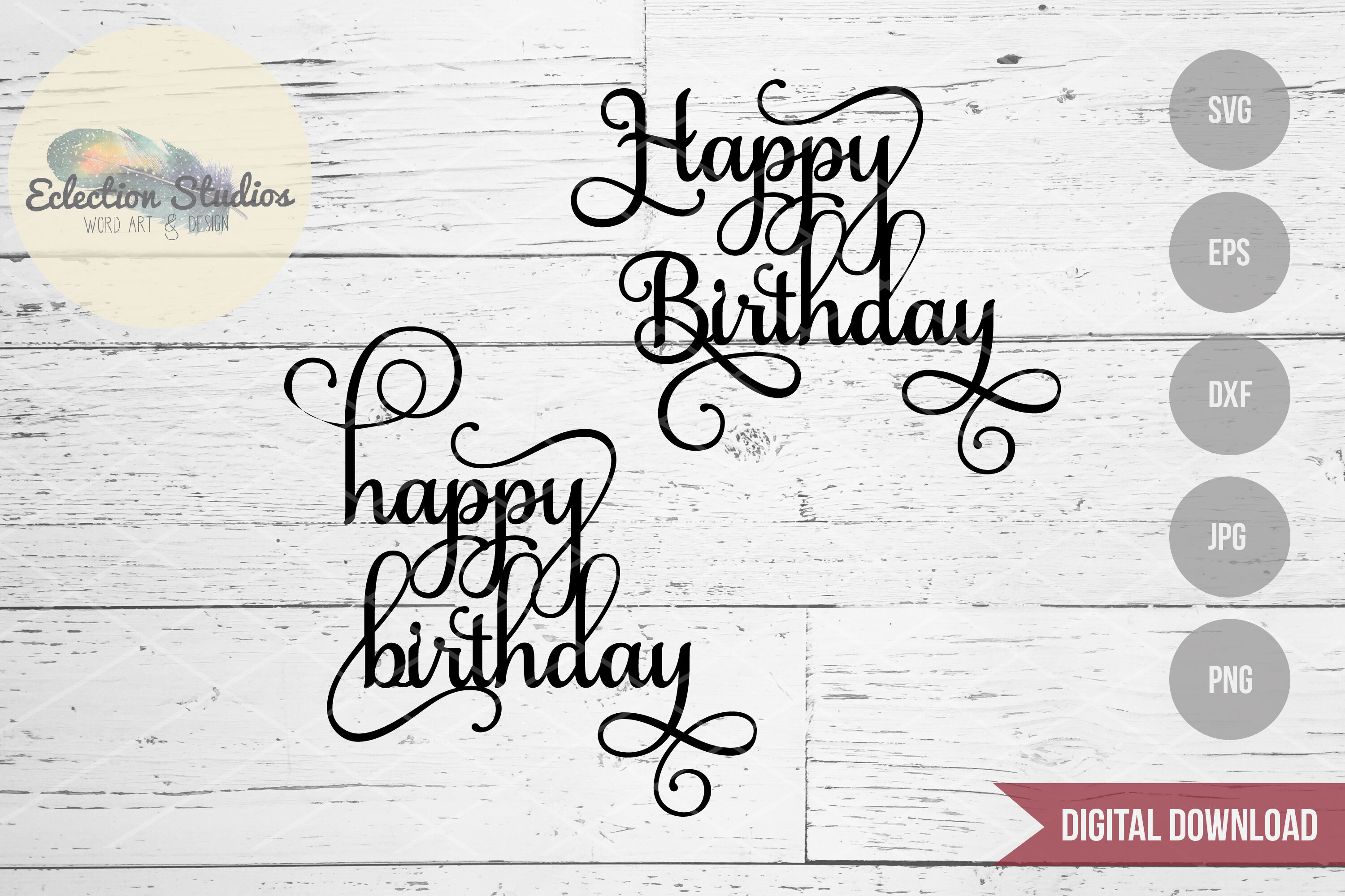 Download Happy Birthday Script Font Svg File Download Free And Premium Svg Cut Images