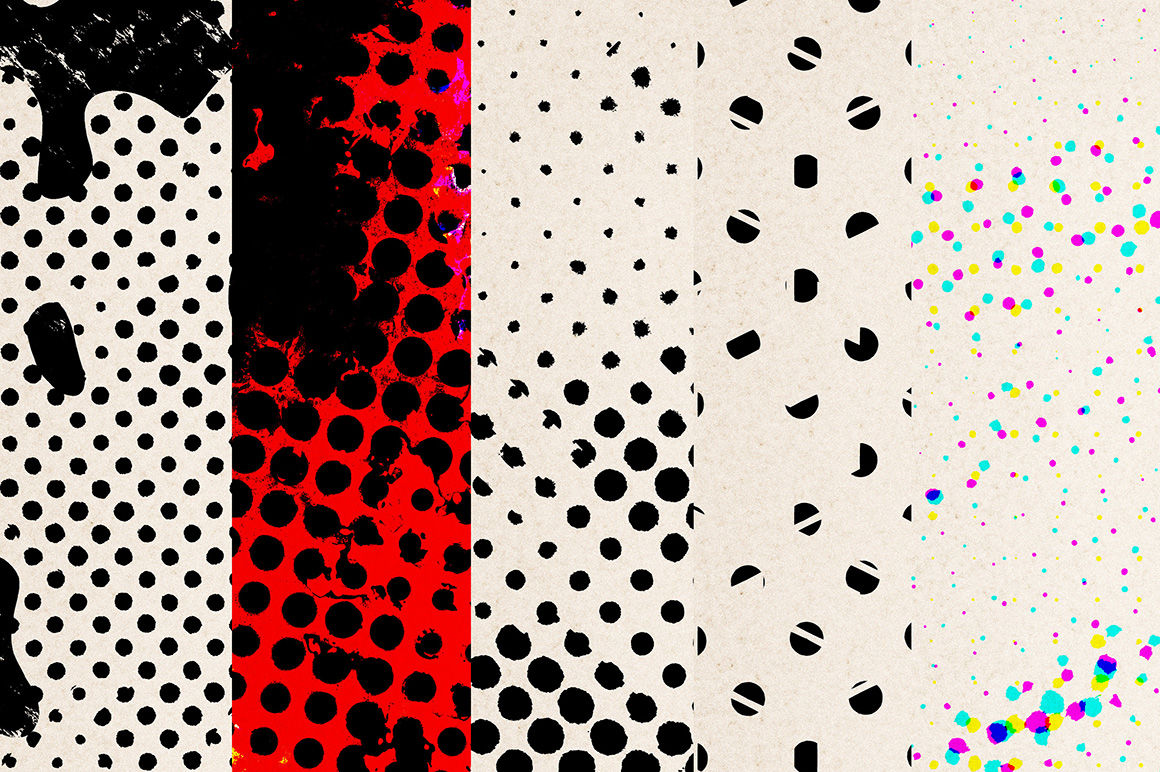 Halftone Textures V3 By Dotstudio Thehungryjpeg Com