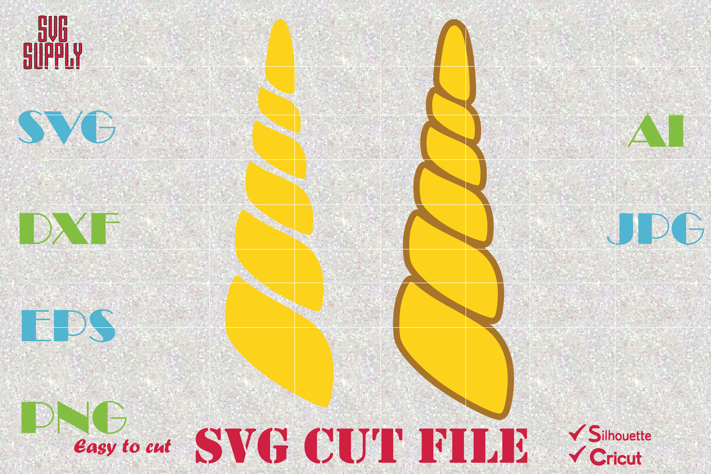 Unicorn Horn Svg Cut File By Svgsupply Thehungryjpeg Com