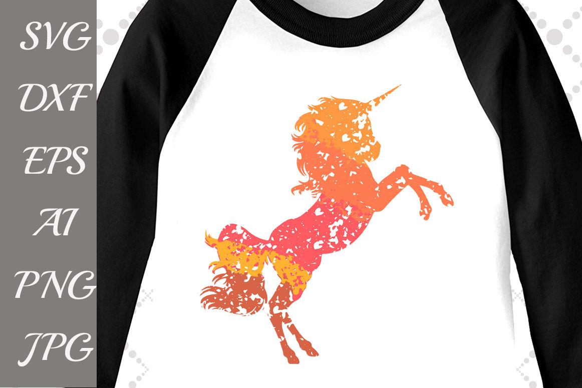 Ombre Unicorn Svg Grunge Svg Unicorn Birthday Svg By