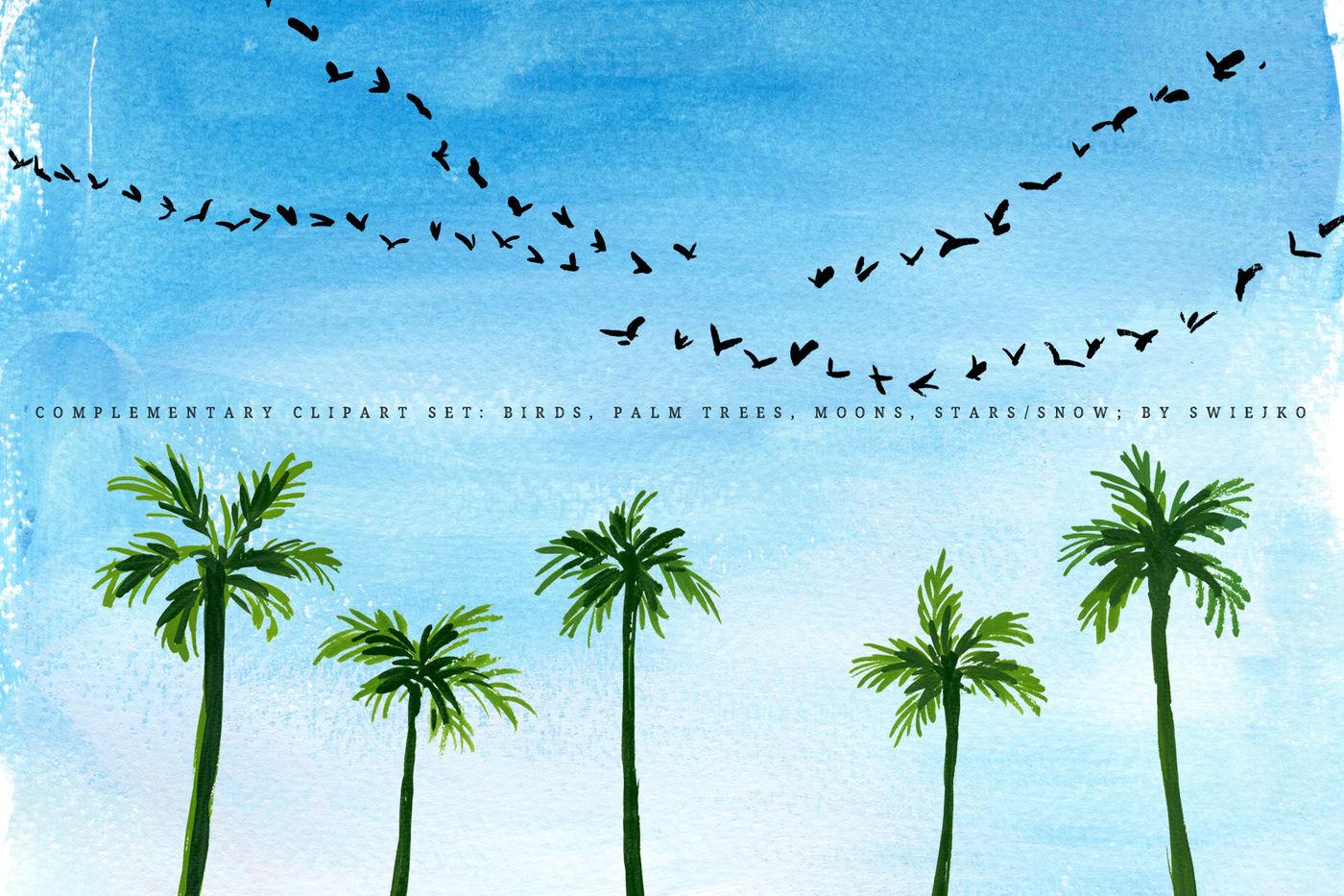 Sky Background Illustration Set By Swiejko Thehungryjpeg Com