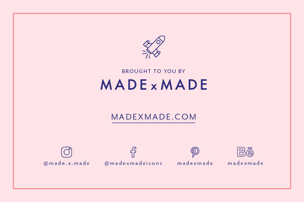 Line Icons – Cosmetic Packaging By Made by Made