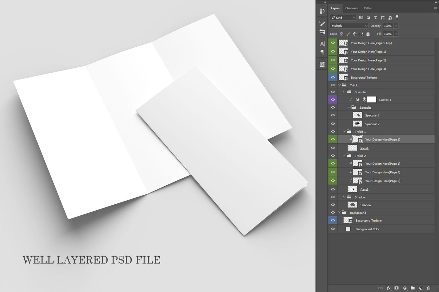 Download 3 Panel Brochure Mockup Psd Yellowimages
