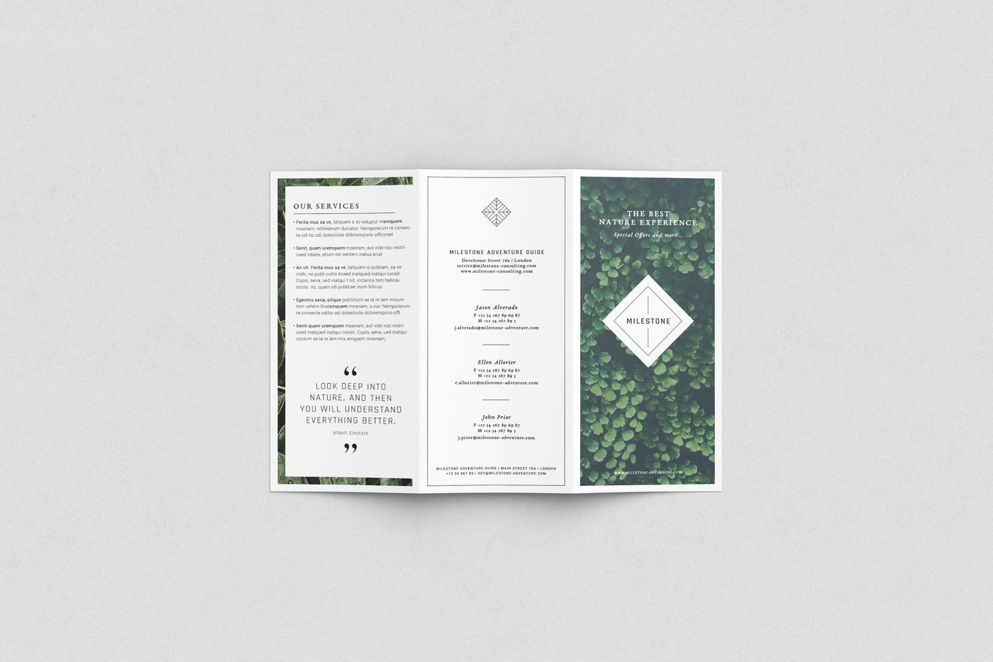 2 Fold Brochure Mockup Psd Free Download