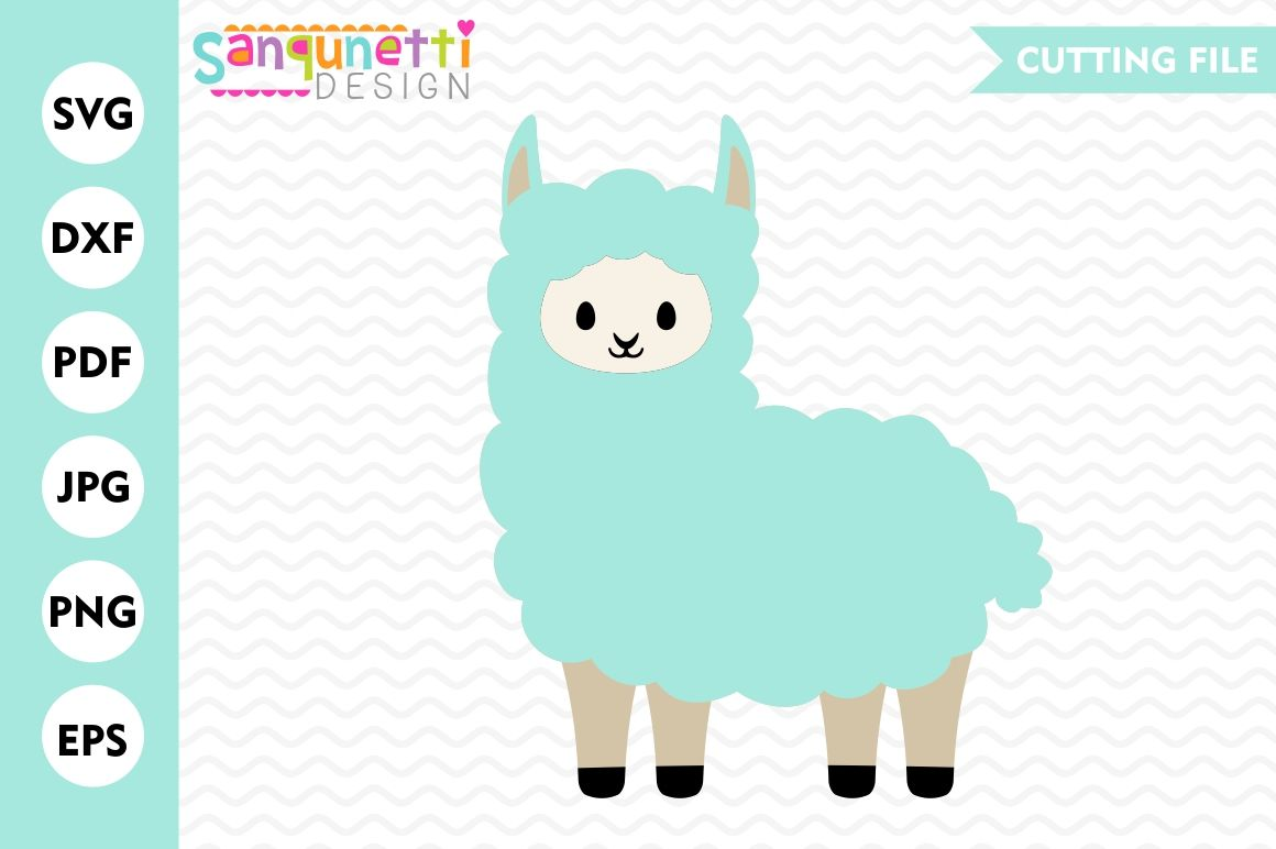 Llama Svg Svg Alpaca Svg Animal Svg Dxf Cutting Files By