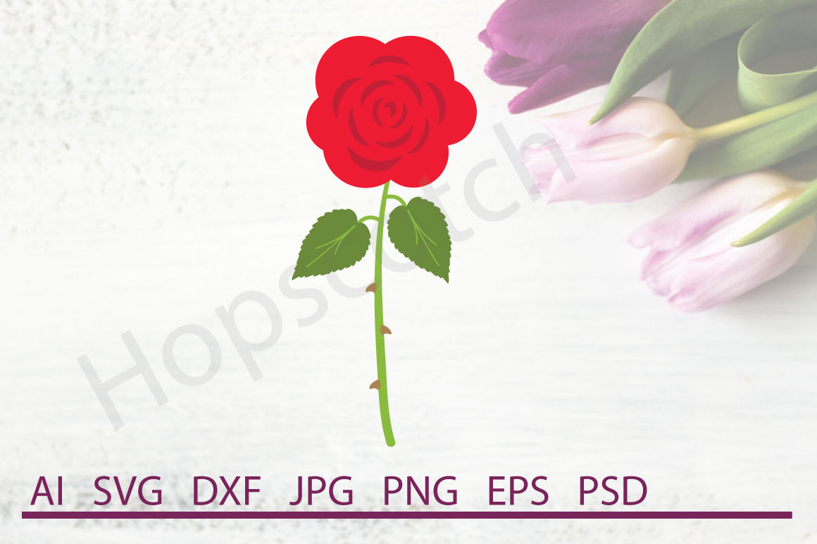 Rose Svg Rose Dxf Cuttable File By Hopscotch Designs